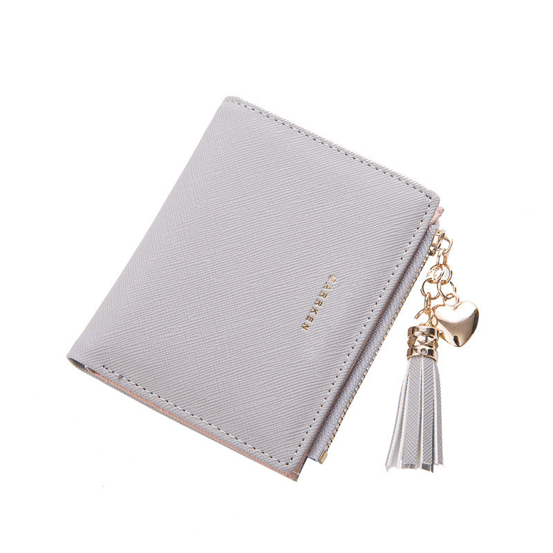 Tassel Women Wallets Small Leather Wallets Female For Coins Cute Wallet Women Coins Zipper Purses Portefeuille Female Clutch Bag