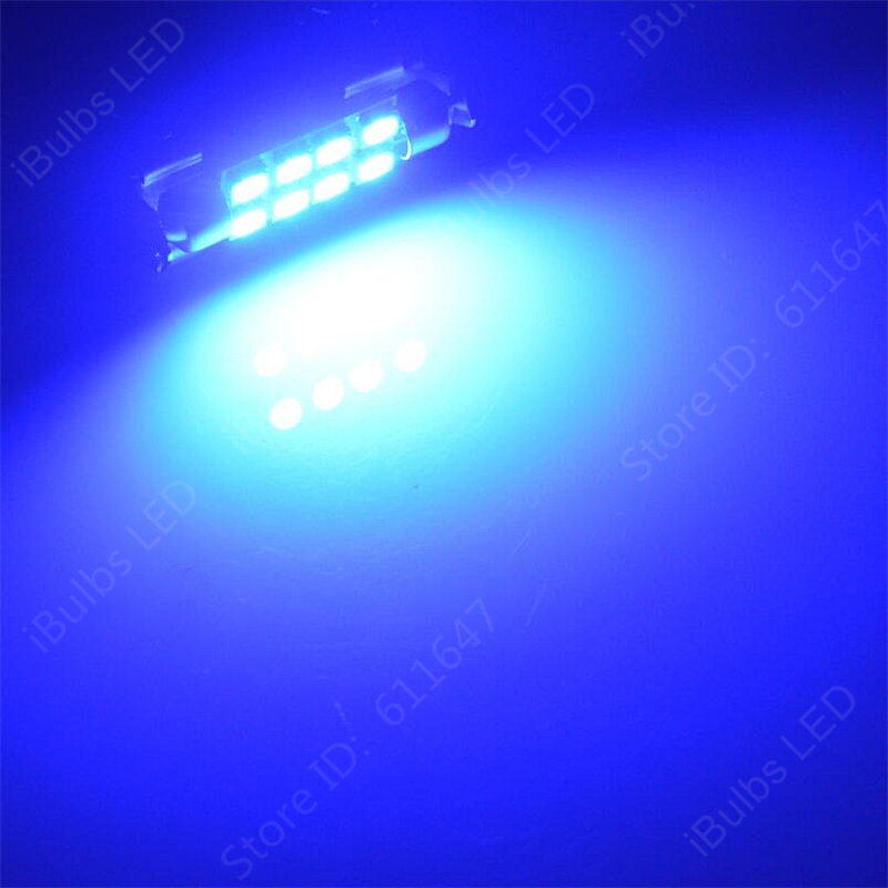 100 шт. кольцо 31 мм 36 мм 39 мм 42 мм 8 светодиодный 5050 SMD авто C5W Купол гирлянда для салона лампы чтениt дорожной карты световая дверная лампа DC12V