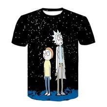 Летняя модная футболка с 3d принтом Рика и Морти для мужчин/wo мужские черные футболки хип-хоп футболки размера плюс мужские футболки
