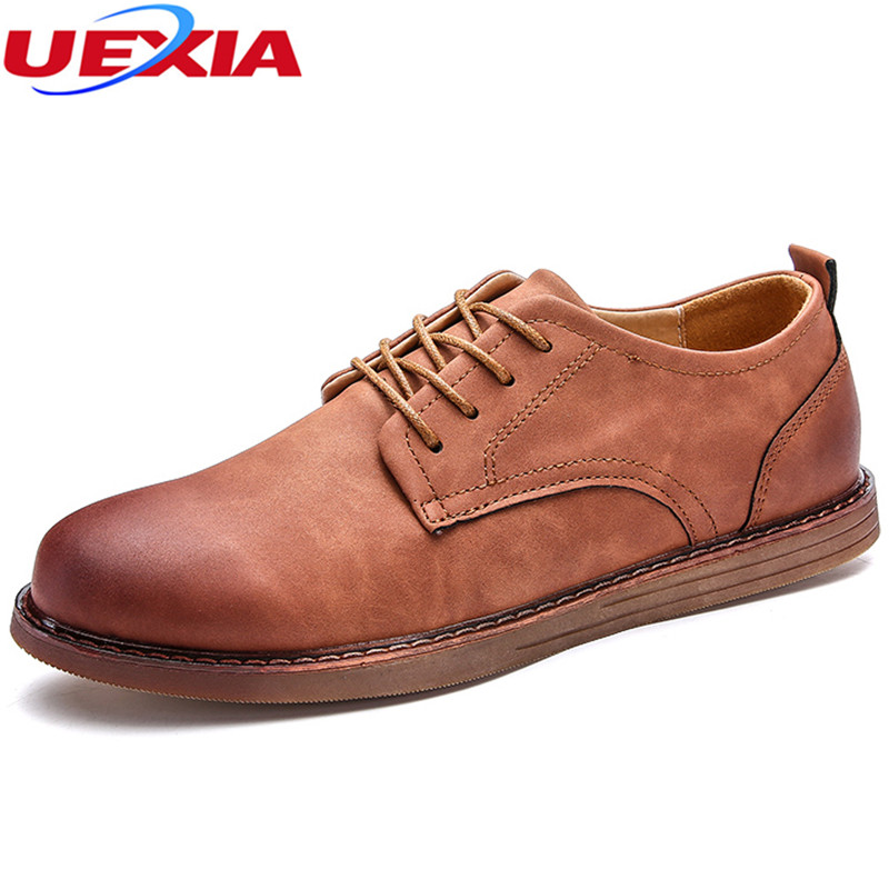 Men Casual Shoes Leather Designer Flats Breathable Male Lace-Up Low Heel Business Classic Retro Work & Safety Footwear Moccasins top classic hot sale men shoes casual leather flats shoes men summer cool