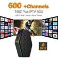 1000 M Lan Octa-core S912 Android Árabe IPTV Box T95Z PLUS 4 k Europeu Francês Esporte Canal Plus francês Caixa de Canais de Tv