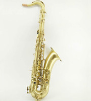 New Arrival Unique Retro Brushed Gold Plated Bb Tenor Saxophone High Quality Instruments Sax With Case