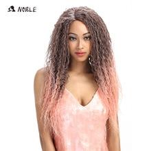 Noble Hair Synthetic Kinky Curly Långa Pärlor För Svarta Kvinnor 26 Inch Ombre Lace Pigg Resistent Hår Gratis frakt