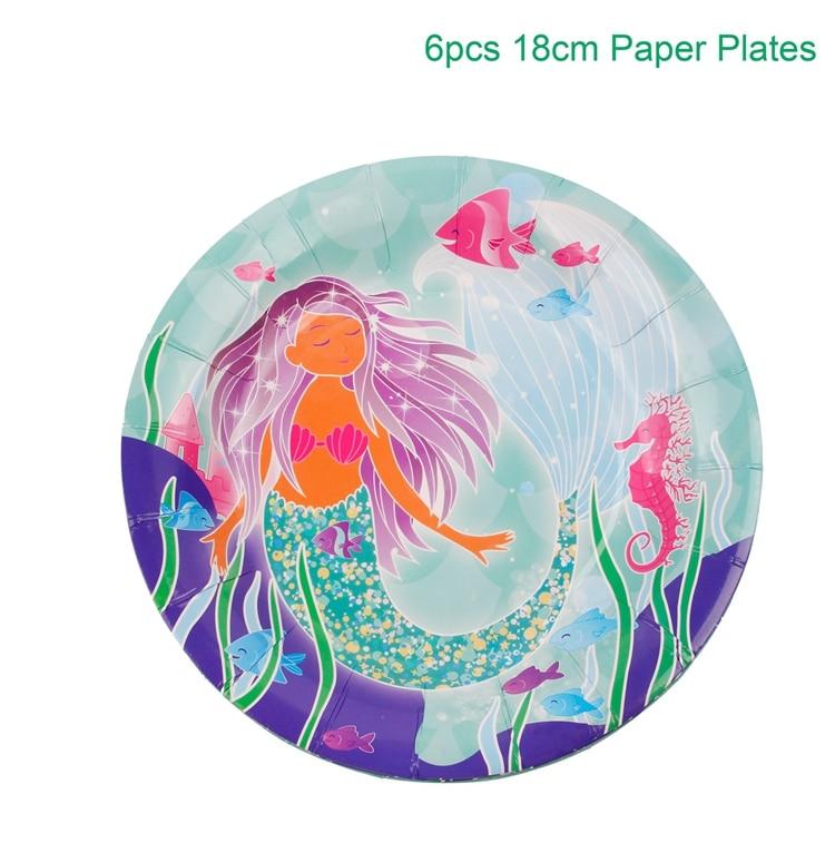 mermaid party plates W3011-03-01