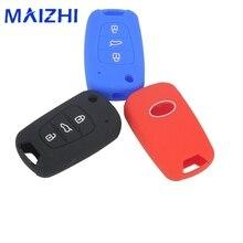maizhi Silicone Key Cover Case for Kia RIO K2 K5 Sportage Sorento Hyundai i20 i30 i35 iX20 iX35 Solaris Verna Fold Key Case