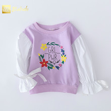 The new girl embroidered hoodies fashion casual T-shirt long sleeve special offer on sale