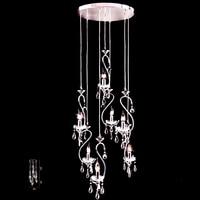 Европейский стиль подвесные светильники долго Лебедь лестница люстра лампа висит лампа освещения произведения искусства Ресторан