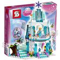 314 unids sy373 castillo building blocks ladrillo de hielo espumoso de serie de la princesa elsa snow queen elsa anna juguetes compatible con lego