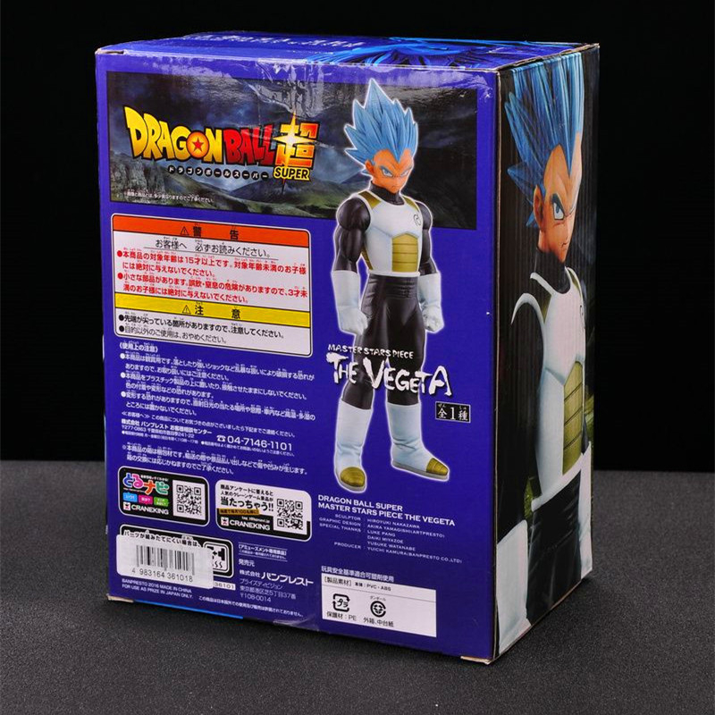 1pc/lot Dragon Ball Vegeta Super Saiyan Blue Hair PVC Action Figures Vegeta Figurte Dragon Ball Z Collectible Model Toy 24cm shfiguarts dragon ball z vegeta pvc action figure collectible model toy 6 5 16cm