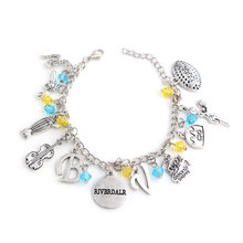 "Riverdale Bracelet beads snake guitar gun Pendant Bracelets for Women Music Hamilton Broadway Musical ""Rise up""Bangles Jewelry(China)"