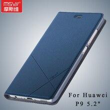 P9 чехол оригинальный Msvii бренд Huawei P9 чехол Бумажник кожаный чехол Стенд Флип кожаный чехол для Huawei Ascend P9 телефон случаях 5.2″