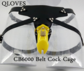 Male strap on cage CB6000 plastic anti-masturbation cock cage wearing penis lock strapon adult sleeve chastity belt sex product