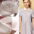 Fashion women white cotton peter pan false collar chocker removable detachable collars