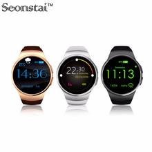 Heißer verkauf kw18 smart watch bluetooth smartwatch sim runde herzfrequenzmesser uhren für apple huawei xiaomi samsung gear s2