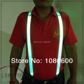 20164  wholesale LED  LIGHT  SHINE polYester suspenders with 3 snapsjacquard elastic braces