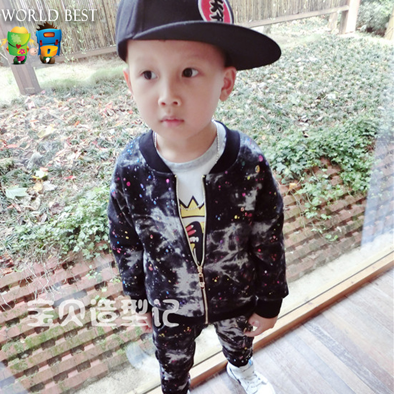 Spring Boy Clothes Set Casual Zipper Outerwear Trousers Boy Clothing Set Everything For Children Clothing And Accessories 2pcs set baby clothes set boy