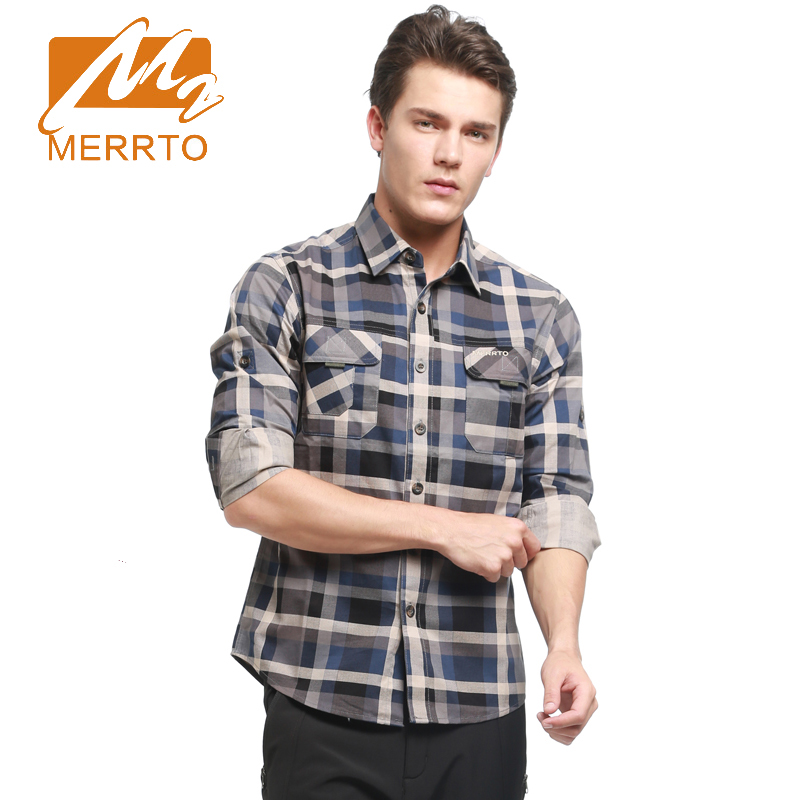 2017 Merrto Mens Hiking Outdoor Shirts Breathable Quick Dry Sports Shirts Camping Walking Shirts For Male Free Shipping MT19167 3d photo wallpaper custom mural room non woven green forest sun landscape painting picture 3d wall murals wallpaper for walls 3d