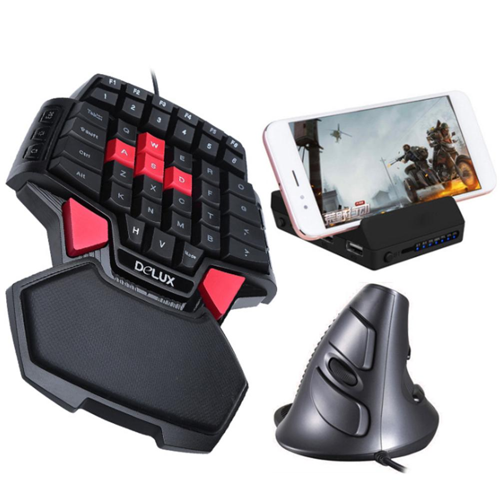 Portable One-hand 47 Keys Wired Gaming Keyboard Double Space Button USB Keypad Good Quality