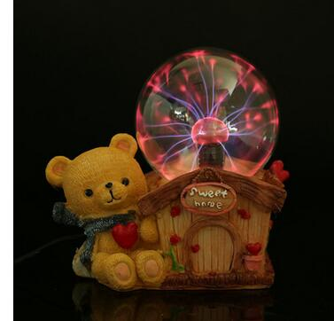 Electric ion Bear house creative lighting lightning electrostatic crystal magic ball birthday crafts gift factory outle