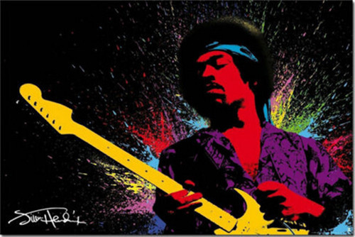 Poster Jimi Hendrix Legend Guitarist Rock Musik Wall Art