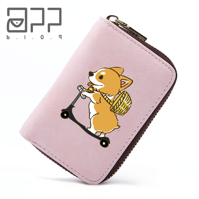 Coin Purses & Holders Card & Id Holders Forudesign Cute Corgis Printed Women Men Credit Id Card Holder Case Business Bank Cards Bag Leather Small Purse Carteira Mujer