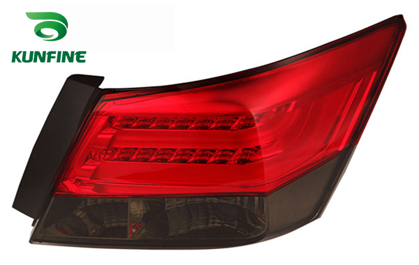 KUNFINE Pair Of Car Tail Light Assembly For HONDA ACCORD 2008-2012 LED Brake Light With Turning Signal Light pair of car tail light assembly for honda city 2014 brake light with turning signal light