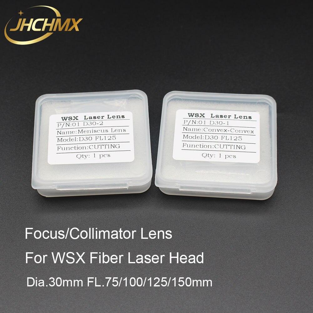 Collimateur Laser Fiber JHCHMX WSX/lentille de mise au point D30 F75/100/125/150mm silice fondue Quartz pour Agents de tête Laser Fiber WSX vente en gros