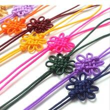 100 pcs DIY Chinese Knots New Year Gifts Home Garden Tassel Fringe Arts Crafts Bookmark Sachet Bag Pendant Present Decor