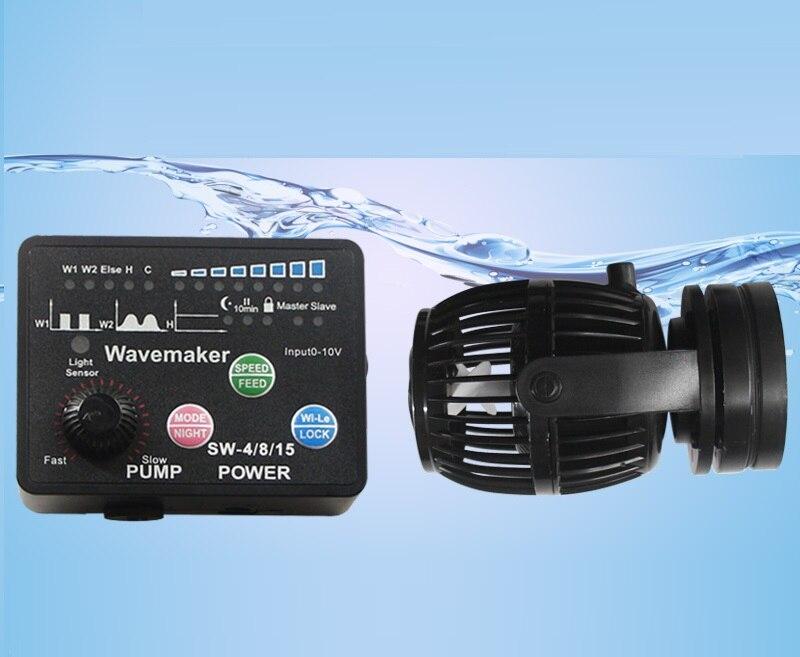 Ebao SW série Wavemaker avec contrôleur intelligent pompe à aubes pour les étangs de poissons marins récif RW nouvelle mise à jour versionSW2 SW4 SW8 SW15