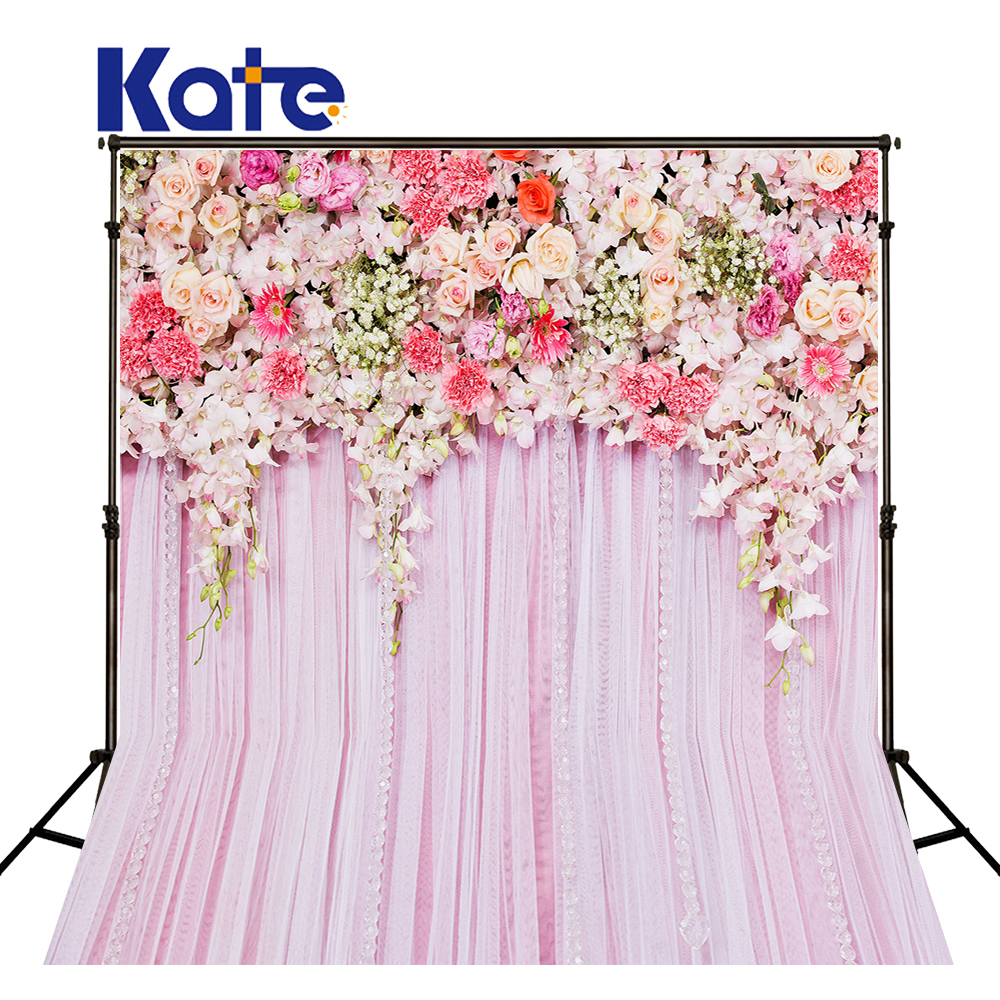Kate 10x10ft Pink Wedding Photography Backdrops Flower Custom Background Photography Party Stage Photography Background 10x10ft vinyl custom photography backdrops prop wall theme photography background ntwo 44