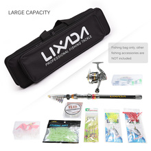 Lixada Portable Fishing Bag Fishing Rod and Reel Travel Carry Case Fishing Pole Gear Tackle Storage Bag Hunting Tool Carrier