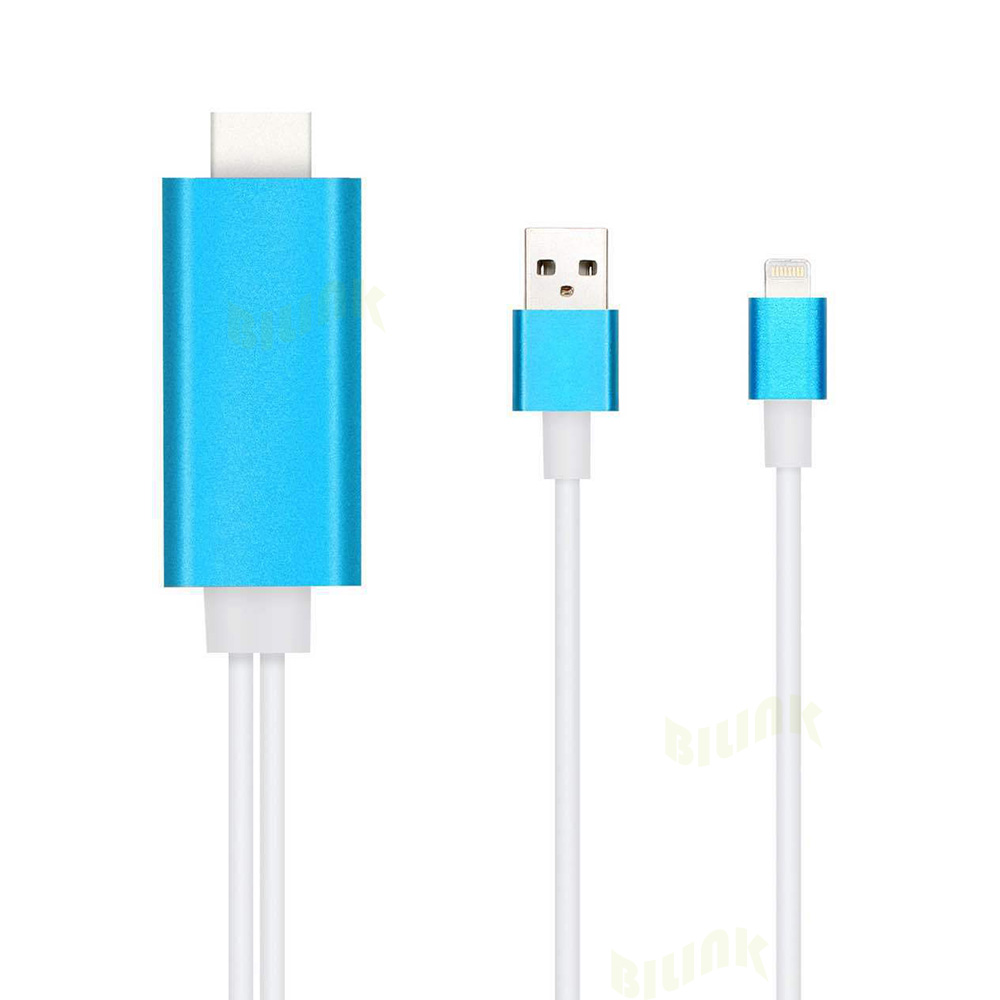 1 Piece 2m Usb 8 Pin To Hdmi Cable 1.4v 1080p 3d Usb To Hdmi Adapter Converter Cable For Ipad Mini Air Iphone 8 Plus 7 6s 6 5s Superior Materials