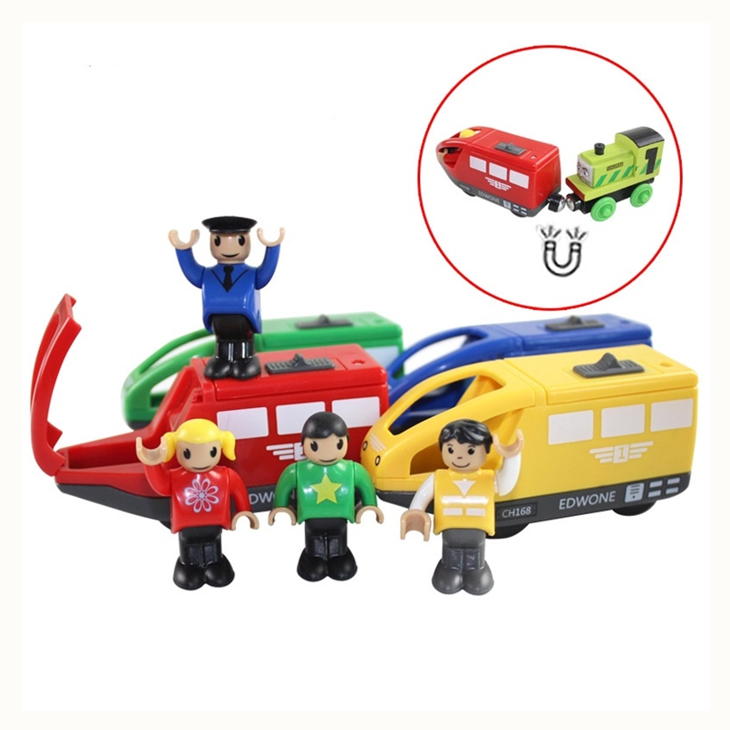 4 Colors Magnetic Electronic Vehicle Toy Kids Electric Train Toys Compatible Wooden Thomas Railway Birthday Gift For Children