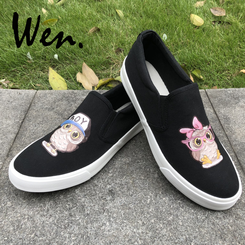 Men's Shoes Wen Mens Slip On Casual Flat Canvas Shoes Shallow Mouth Galaxy Bebula Police Box Hand Painted Shoes Sneakers Platform Plimsolls