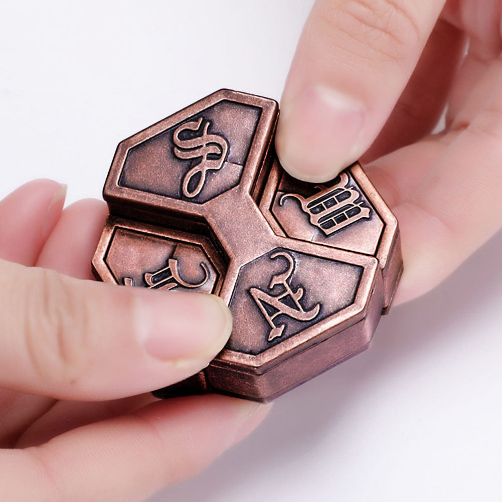 Gift Box Lock IQ EQ Training Educational Toy Intelligence Funny Adult Vintage Metal Brain Teaser Children Magic Game Mind School