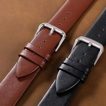 Leather Watchband 24mm 22mm 20mm Black Men Women Watches Band 18mm 16mm Wrist Watch Strap 14mm 12mm Metal Buckle Brown 2019 New