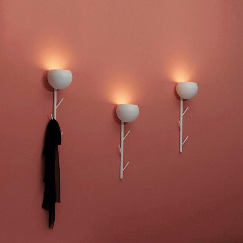 Moderne minimaliste chevet applique murale personnalité créative arbre salon chambre couloir allée multifonctionnel applique murale