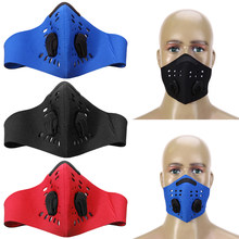 1a0408c30ef Cycling Mask With Two Exhale Valves Anti-Pollution PM2.5 Filter Mountain  Bike Dustproof Mask Outdoor Sports Half Face Masks