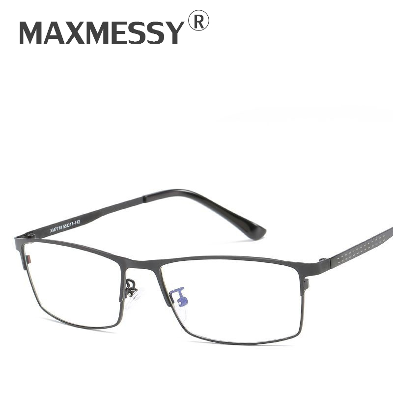 MAXMESSY Classic Business Men Full-Rim Anti Blue Ray Eyeglasses Frames Optical Computer Gaming Goggles Clear Lens Glasses F044