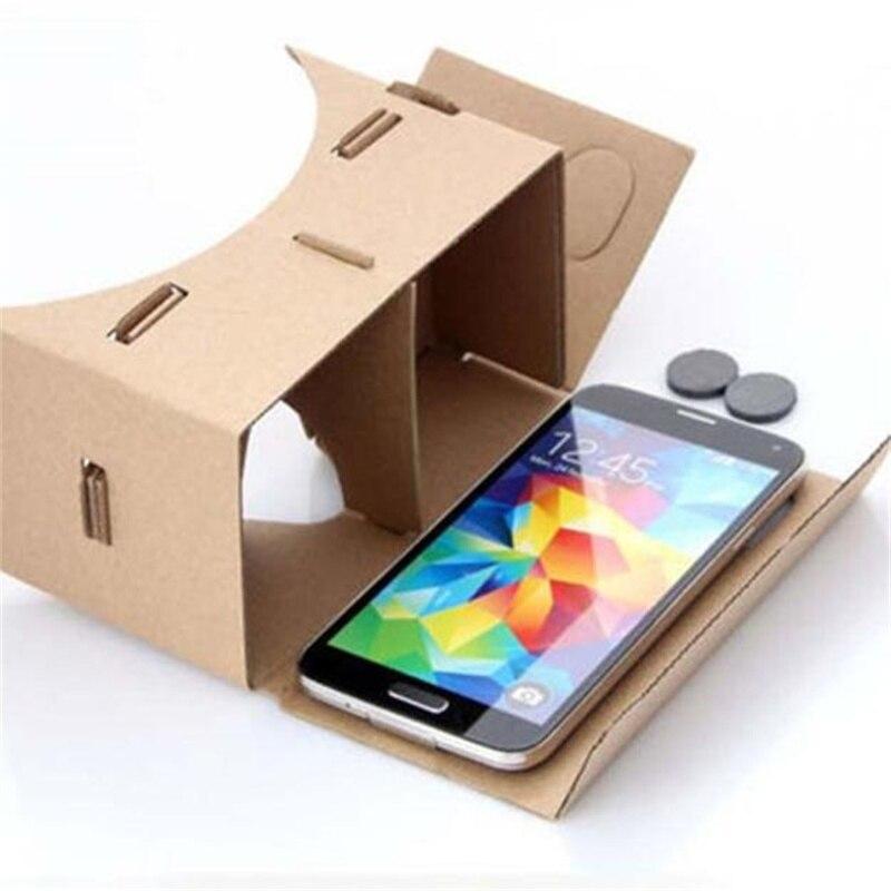 venta caliente diy calidad del cartón 3d vr gafas de realidad virtual para goog