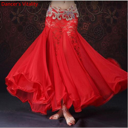 New Belly Dance Clothes Professional Long Fish Tail Skirts Wrapped Skirt Women Lace Belly Dance Skirts (without Belt)