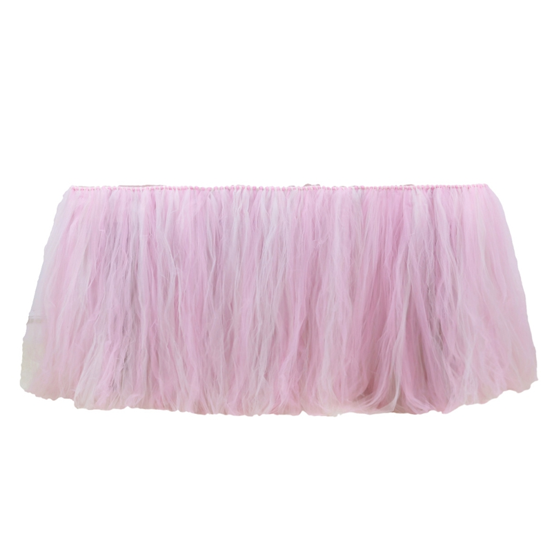 2019 Tulle Table Skirt Baby Shower Favors Tutu Table Skirts Nylon Table Skirts for Hotel Wedding Party Table Decoration