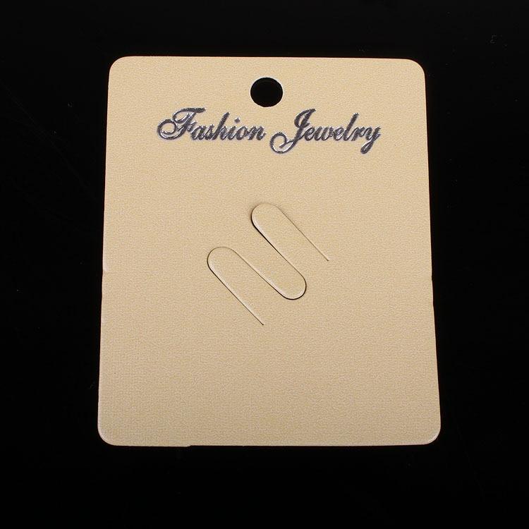 100pcs Kraft Fashion Jewelry Cream Card Brooch  Cards 7x5.7cm Paper Craft Card Hang Tag Jewelry Displays