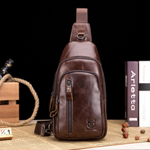 Bull Captain Genuine leather Crossbody Bags Men Leather Shoulder Chest Fashion Travel Handbags Man Messenger Bag Male