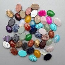 Cuenta de cabujón de piedra natural, mezcla de moda, 10 50 Uds., no hole10X14 13X18 25X18 15X30 20X30 30X40 MM, accesorios de anillo, envío gratis