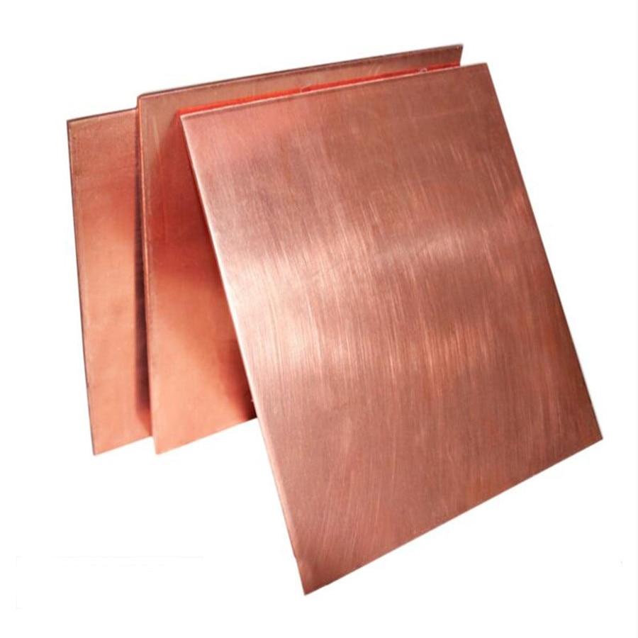 1pc Copper Sheet Plate 99.9% Pure Copper Cu Metal 100x100x0.8mm For Handicraft ss 16 sheet metal shrinker stretcher metal plate shrinking machinery tools