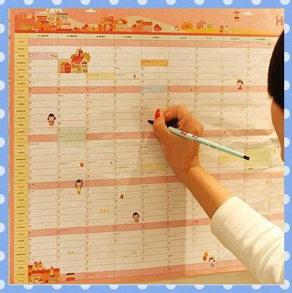 amy free shipping 5pcslot kawaii stationery 2014 new wall daily planner weekly monthly organizer have 365 days on aliexpresscom alibaba group