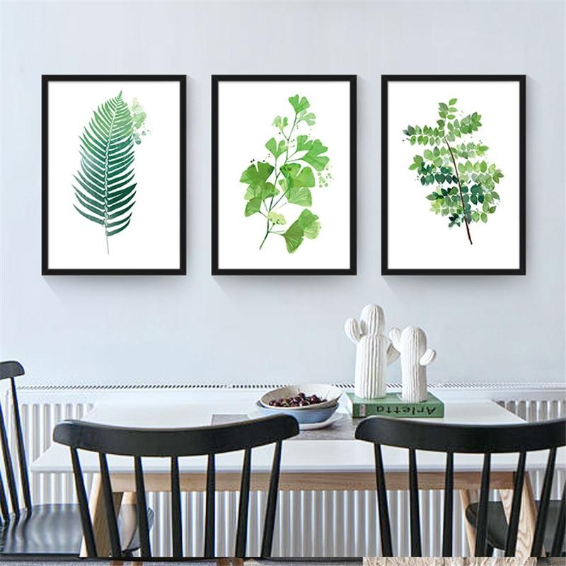 Ev Ve Bahce Ten Resim Ve Hat De Tropikal Bitkiler Yapraklar Desen