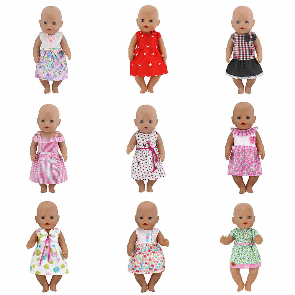 New Dress Wear For 43cm Zapf Baby Born Doll 17 Inch Reborn Babies Dolls Clothes
