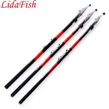 Rock Fishing Rod 2.4m2.7m3.0m3.6m4.5m5.4m6.3m Telescopic Superhard Carbon Spinning Pole